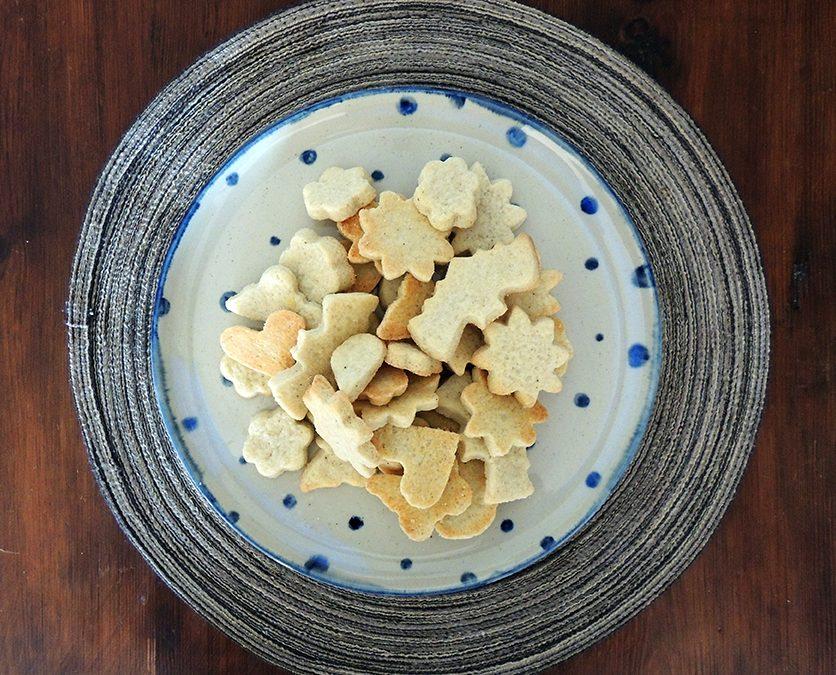 Galletas de vainilla y tarta de manzana