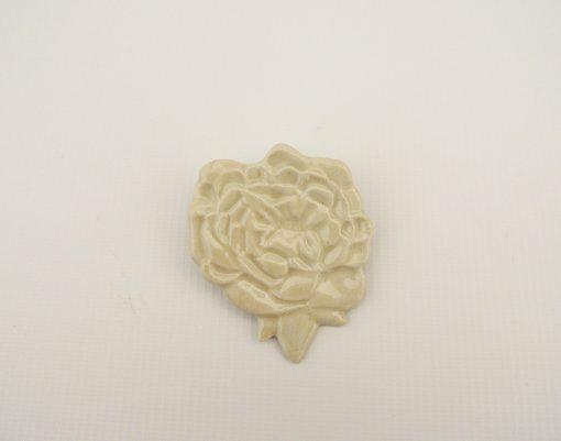 broche artesania ceramica flor
