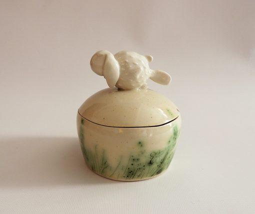 caja ceramica artesanal decorativa
