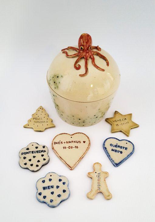 caja y adornos ceramica