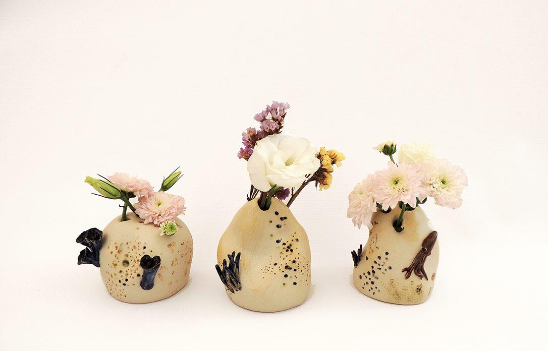 florero artesania ceramica marino