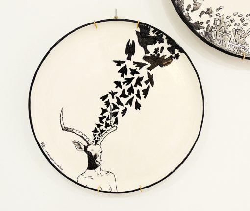 plato decorativo ceramica impala