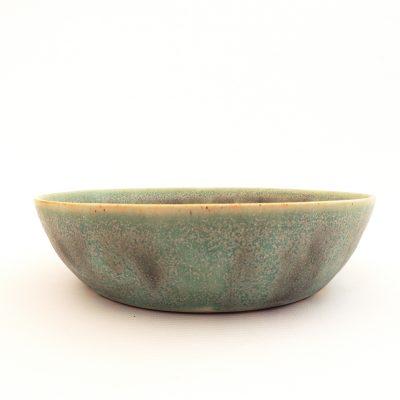 plato hondo ceramica turquesa