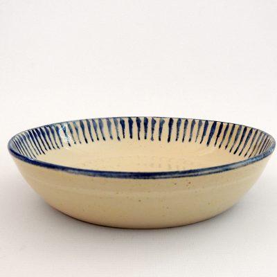 plato artesania ceramica rayas