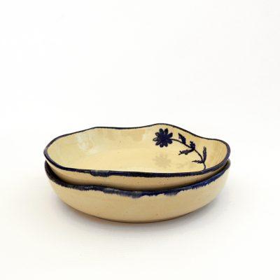 plato hondo artesania ceramica