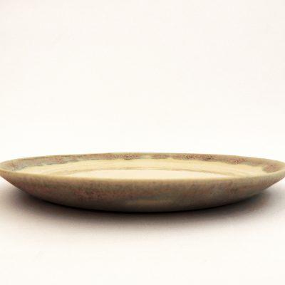 plato artesania ceramica rosa