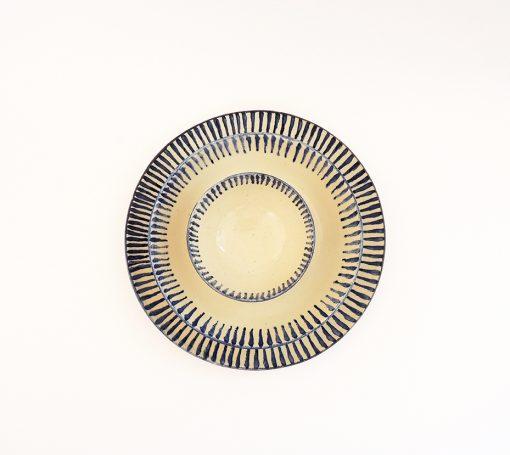 vajilla ceramica artesanal rayas